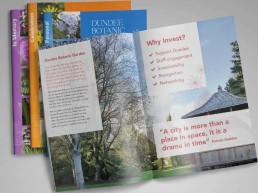 Dundee Botanic Garden A4 brochure