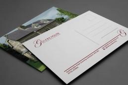 Glebe House A5 promotional postcard