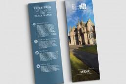 The Black Watch digitally printed menu